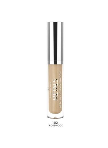 Golden Rose Metals Metallic Liquid Eyeshadow No:102Rosewood Kahve